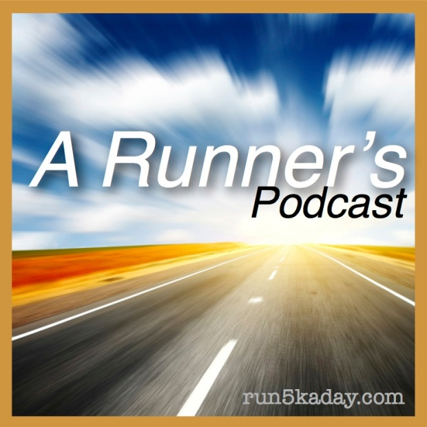 a runner's podcast thumbnail w: text2