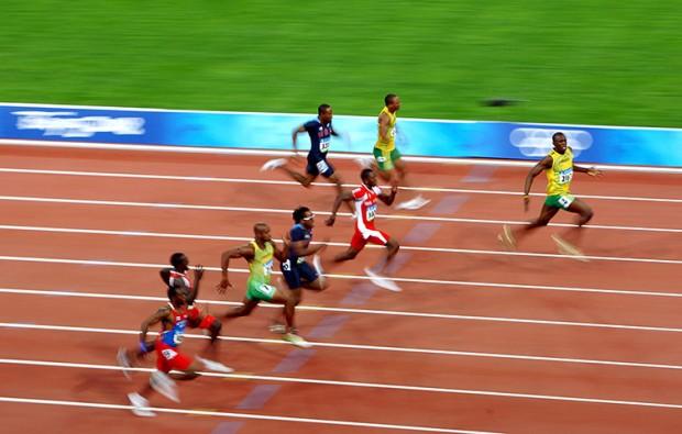 Usain Bolt celebrates