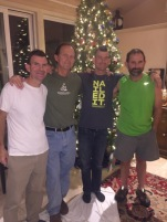 Here is Pat with his 3 brothers -