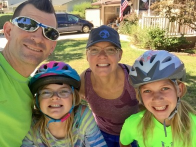 A family run/bike-ride - one of Pat's 8 runs in 2017
