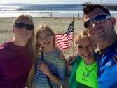 Jana, Anja, Lucy and Pat at Avila Beach - Summer 2017